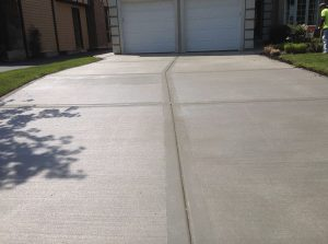 Photo of finished driveway pour